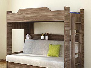 Кровать двухъярусная с диваном Боровичи