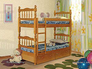 Двухярусная кровать  Фокин Точеная №2