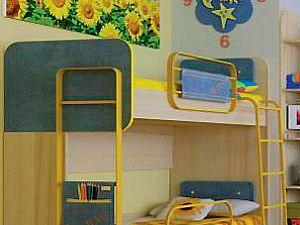 Кровать Любимый дом Джинс, ЛД 507.150 двухъярусная (80)