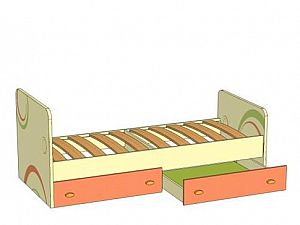 Кровать Фруттис (80) с выкатными ящиками Любимый дом, ЛД 503.020
