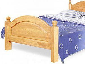 Кровать Бобруйскмебель Лотос с заглушкой  с ножной спинкой, Б-1090-05