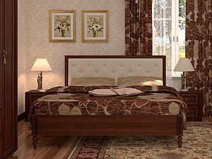Кровать Глазов Montpellier 1, орех шоколадный (180)