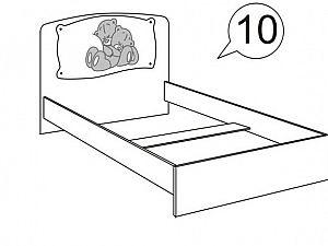 Кровать Ижмебель Бьянка АРТ 10  с постером