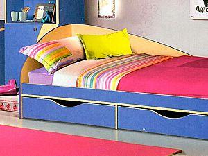 Кровать КМК Молодежный с ящиками, 0302 (80)
