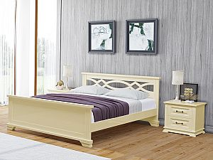 Кровать Райтон Nika сосна (белый, слоновая кость)