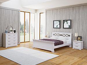 Кровать Райтон Nika М сосна (белый, слоновая кость)