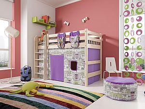 Кровать Райтон Отто-5 полувысокая с прямой лестницей