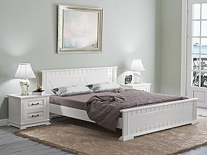 Кровать Райтон Венеция сосна (белый, слоновая кость)