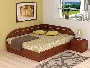 Кровать Торис ЮМА В7 (Румо) левое