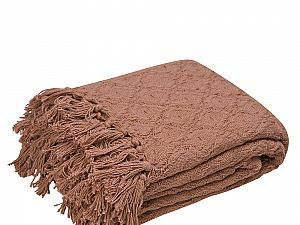Плед Arloni Лайт, коричневый