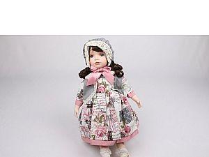 Интерьерная кукла Девочка в шляпке C21-188517