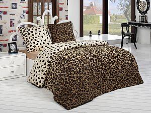 Постельное белье Acelya Leopar, коричневый