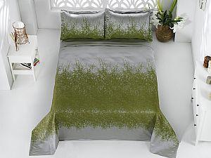 Покрывало Karna Florina зеленое, с наволочками