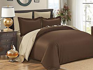 Постельное белье Karna Sanford, коричневый-бежевый
