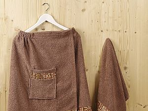 Набор для сауны Karna Relax, коричневый