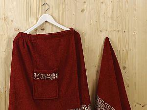 Набор для сауны Karna Relax, бордовый