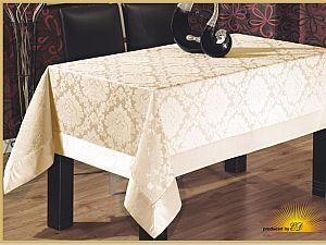 Скатерть Verolli Floc Damask 160х220 см, кремовая