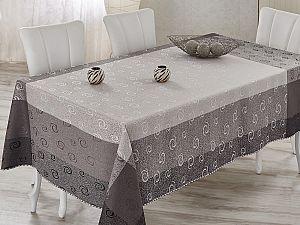 Скатерть Verolli Charizmatik 160х220 см, серебряная