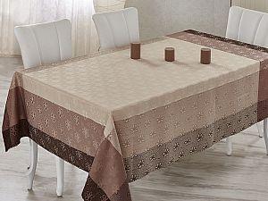 Скатерть Verolli Charizmatik 160х220 см, коричневая