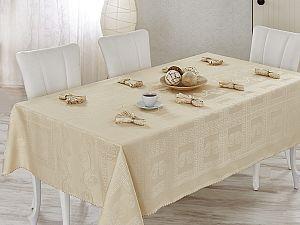 Скатерть Verolli Royal 160х220 см, с салфетками, капучино
