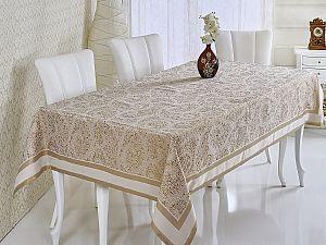 Скатерть Verolli Mozaik 160х220 см, золотистая