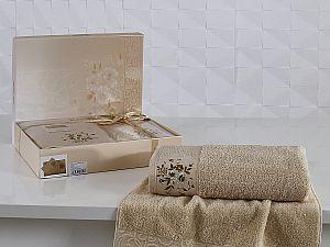 Комплект полотенец Karna Viola, капучино