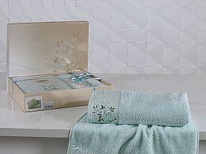 Комплект полотенец Karna Viola, светло-зеленый
