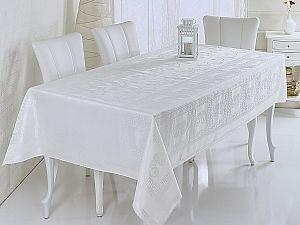 Скатерть Verolli Buta Royal 160х220 см, белая