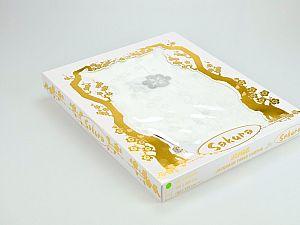 Скатерть Verolli Sakura 160х220 см, серебряная