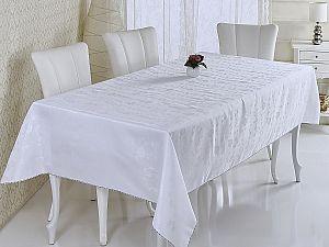 Скатерть Verolli Sakura 160х220 см, белая