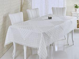 Скатерть Verolli Rozalit 160х220 см, с салфетками, кремовая