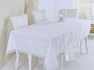 Скатерть Verolli Rozalit с гипюром 160х220 см, белая