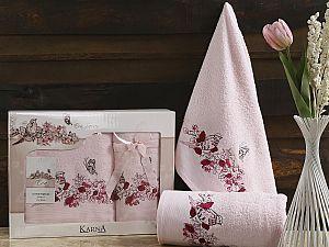 Комплект полотенец Karna Eva, светло-розовый
