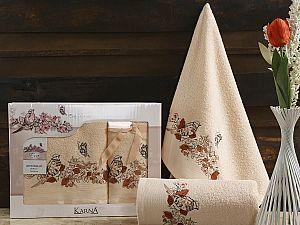 Комплект полотенец Karna Eva, абрикосовый