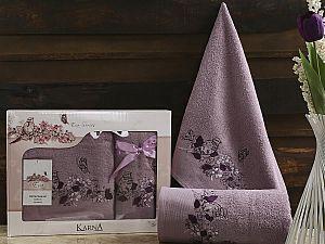 Комплект полотенец Karna Eva, фиолетовый