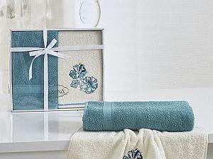 Комплект полотенец Karna Rodos, бирюзовый