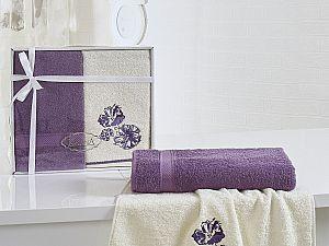 Комплект полотенец Karna Rodos, фиолетовый
