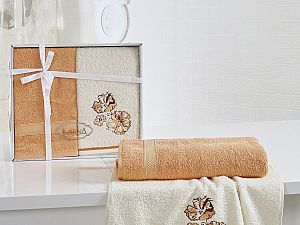Комплект полотенец Karna Rodos, абрикосовый