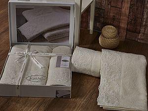 Комплект полотенец Karna Elinda, кремовый