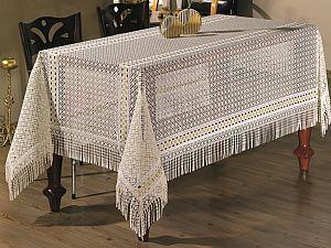 Скатерть Verolli Lez с гипюром 160х220 см, кремовая