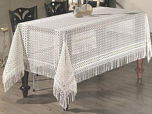 Скатерть Verolli Lez с гипюром 160х220 см, белая