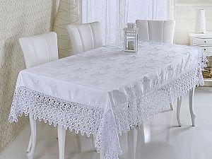 Скатерть Verolli Zerafet с гипюром 160х220 см, белая