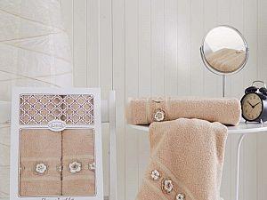 Комплект полотенец Karna Elegance, бежевый