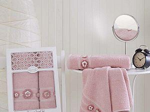 Комплект полотенец Karna Elegance, пудра