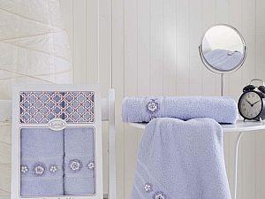 Комплект полотенец Karna Elegance, светло-лаванда