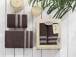 Комплект полотенец Karna Petek, коричневый