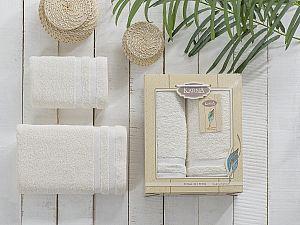 Комплект полотенец Karna Petek, кремовый