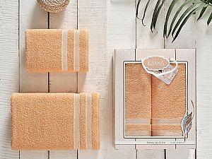 Комплект полотенец Karna Petek, абрикосовый