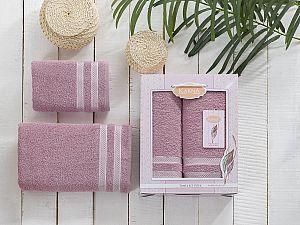 Комплект полотенец Karna Petek, грязно-розовый