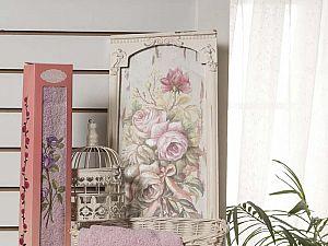 Полотенце Karna Nora 50х70 см, грязно-розовое
